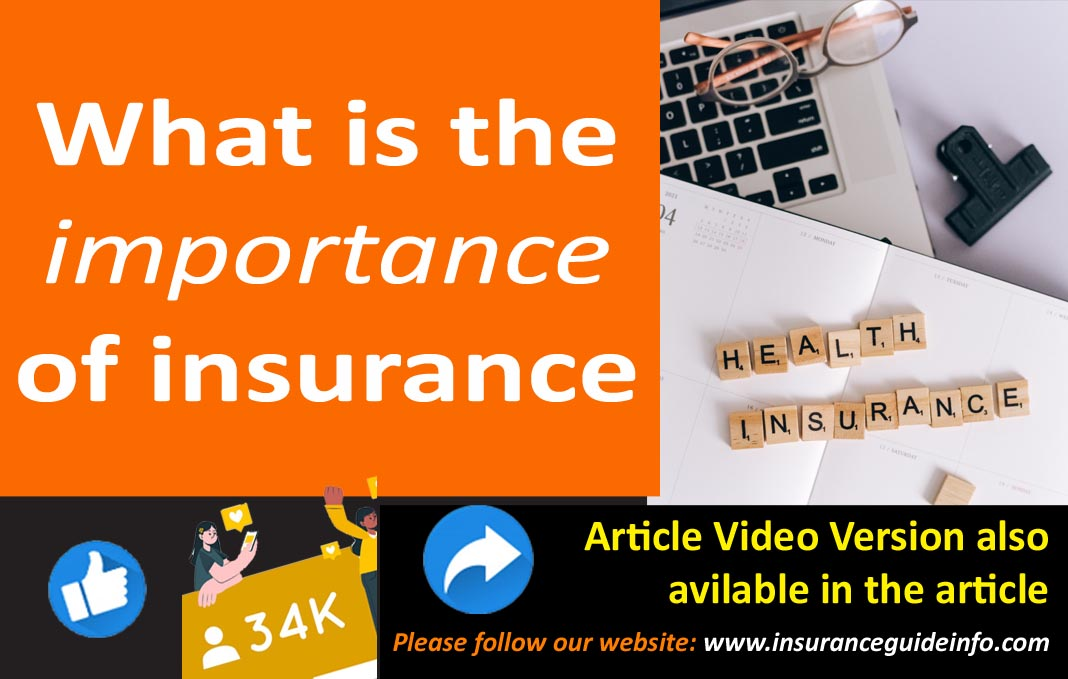 what is the importance of insurance for life